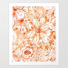 BIG SUNSHINE Floral Art Print