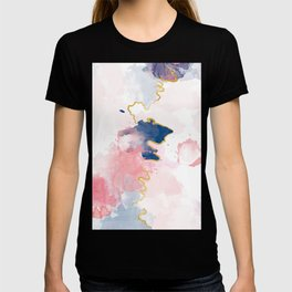 Kintsugi Pastel Marble #kintsugi #gold #japan #marble #pink #blue #home #decor #kirovair T-shirt