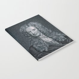 Gravity / Vintage portrait of Sir Isaac Newton Notebook