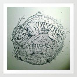 Extinct vs. Living Art Print