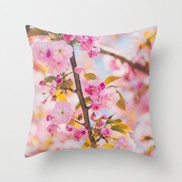 Cherry Blossoms I Throw Pillow