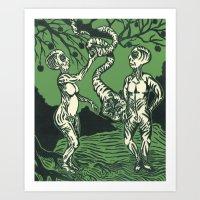 Alien Adam and Eve Art Print