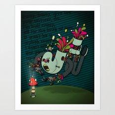 Daisy, Daisy! Art Print