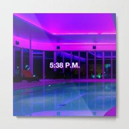 5:38 P.M. Metal Print