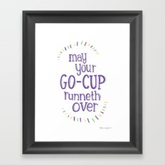 Go-Cup (type only) Framed Art Print