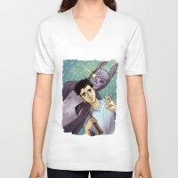 donnie darko V-neck T-shirts featuring Donnie Darko by Andy Isabel