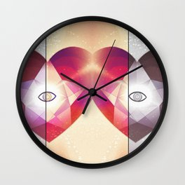 Tri-Color Jewish Star Of Protection Wall Clock