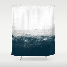 Ocean No. 1 - Minimal ocean sea ombre design  Shower Curtain