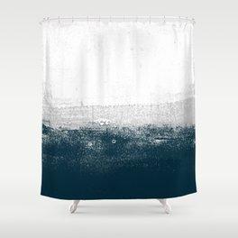 Ocean No. 1 - Minimal ocean sea ombre design  Shower Curtain