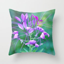 Cleome Throw Pillow