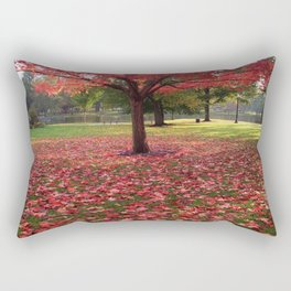 Red Maple Tree Rectangular Pillow