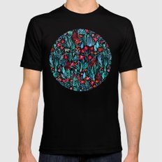 Though I Walk at Night Black MEDIUM Mens Fitted Tee