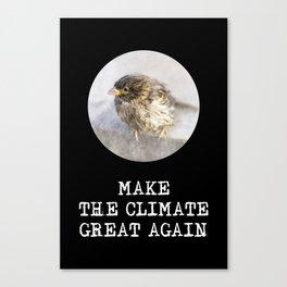 Wet Sparrow - No More Climate Change Canvas Print