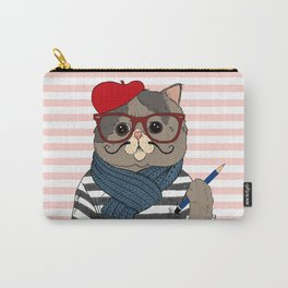 French Cat Carry-All Pouch
