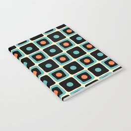 Mid Century Square Dot Pattern 4 Notebook