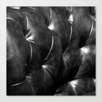 leather Canvas Prints featuring leather by the rogue sparrow