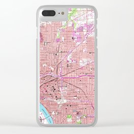 Vintage Map of Tulsa Oklahoma (1954) Clear iPhone Case