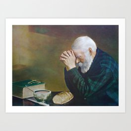 Eric Enstrom Grace Man Praying Over Bread Art Print