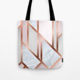 White Pastel Art Deco Tote Bag