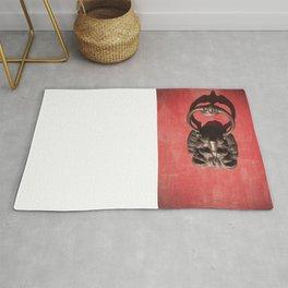 Red Door with Lion head Rug