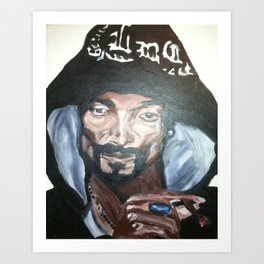 Snoop Dogg Fingerpainted Acrylic Painting Art Print