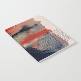 Independent: a red and blue abstract watercolor Notebook