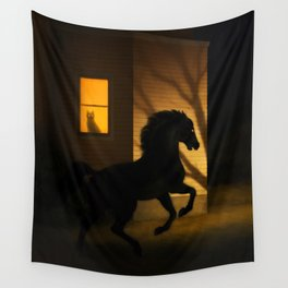 Shadows in the Suburb Wall Tapestry