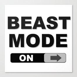 Slide to Unlock Beast Mode Canvas Print