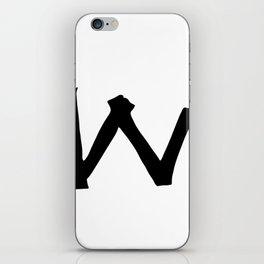 W Monogram (Hand 2) iPhone Skin