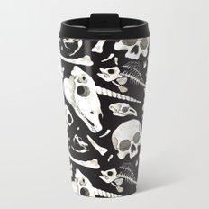 black Skulls and Bones - Wunderkammer Metal Travel Mug