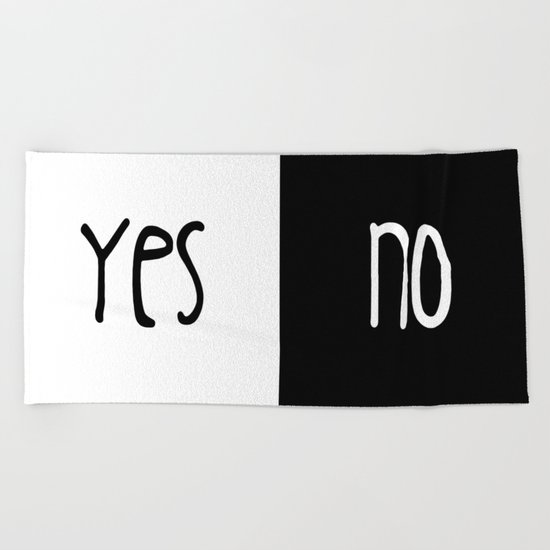 Yes/No Beach Towel