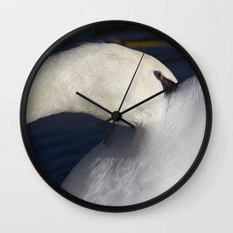 Swan Shyness Wall Clock