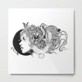 WILD GIRL Metal Print