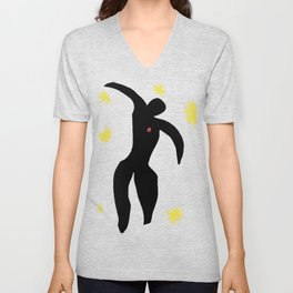 Henri Matisse, Icarus (Icare) from Jazz Collection, 1947, No Background Artwork, Men, Women, Youth Unisex V-Neck