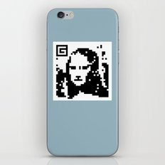 QR- Monalisa iPhone & iPod Skin