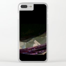 Pink Argyle Diamond Clear iPhone Case