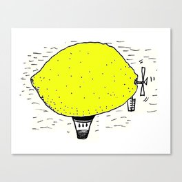 Lemon zeppelin Canvas Print