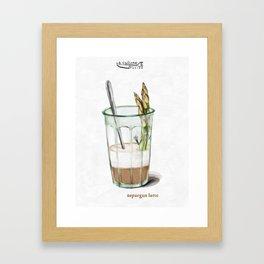 La Cuisine Fusion - Aspargus Latte Framed Art Print