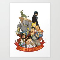 Comics are Cool! Art Print