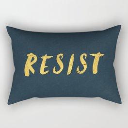 RESIST 6.0 - Freedom Gold on Navy #resistance Rectangular Pillow