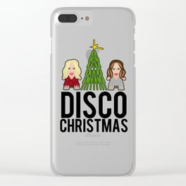 Kylie & Dannii - Disco Christmas Clear iPhone Case