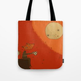 Tea with Moon Tote Bag