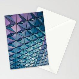Blue Purple Geometric Pattern Stationery Cards