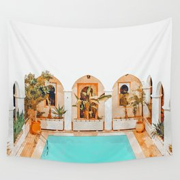 Turkish Holiday #painting #travel Wall Tapestry