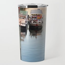 Boats on th Seine Travel Mug