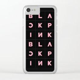 Blackpink Square Up BLACK V2 Clear iPhone Case