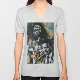 No racism but one Love Unisex V-Neck