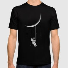 Moon Swing Mens Fitted Tee MEDIUM Black