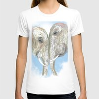 elephants T-shirts featuring Elephants by Isabel Sobregrau