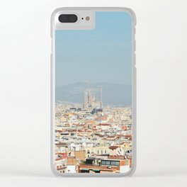 Barcelona Spain Landscape Clear iPhone Case